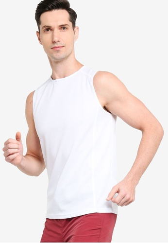 ZALORA ACTIVE white Muscle Sleeveless T-Shirt 8AF66AA1FD7CAAGS_1