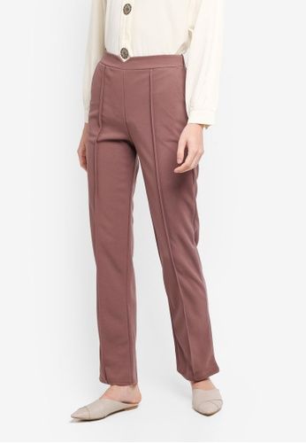 BYN pink Straight Leg Pants C0BF0AAF452309GS_1