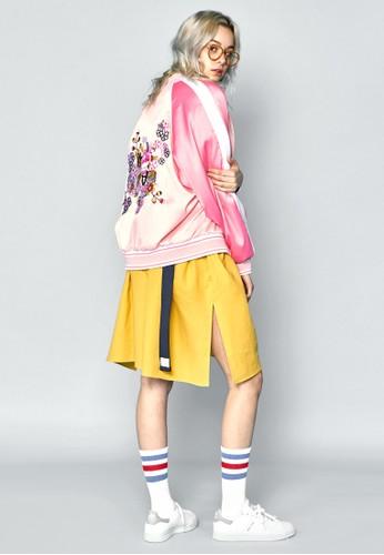拼色拉克蘭袖刺繡棒球外esprit 台北套, 服飾, 外套