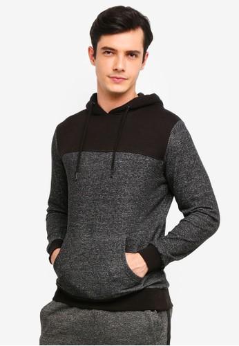 OVS black Cotton Blend Sweatshirt With Striped Insert D3A87AAEB04B22GS_1