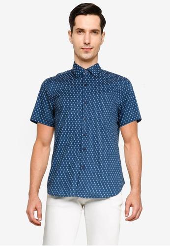 Electro Denim Lab blue Printed Shirt F68F3AAE3561C3GS_1