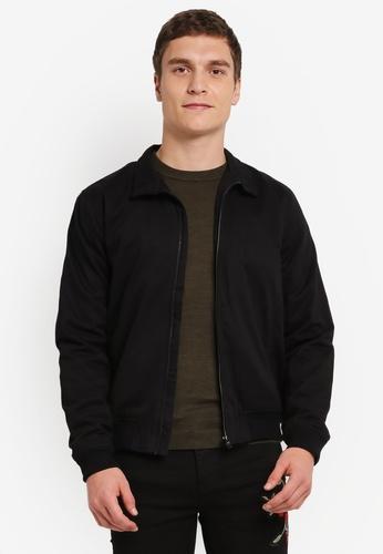 Topman black Black Harrington Jacket TO413AA0SJKKMY_1