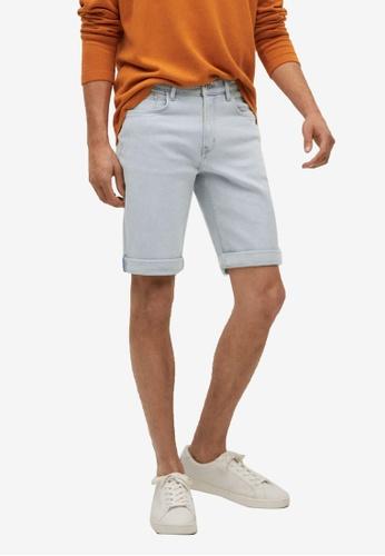 MANGO Man blue Light-Wash Denim Shorts A8020AA7D1701DGS_1