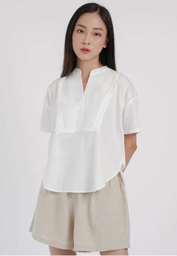 DARA white Hana Top in White 388EDAAC48402FGS_1