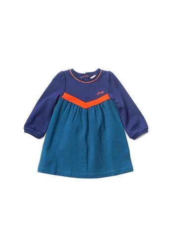 PONEY green Poney Baby Princess Amelie Long Sleeve Dress 99B53KABE2FCF6GS_1