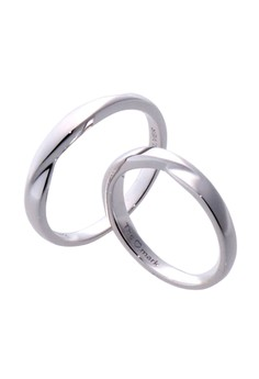 Wave Two Silver Couple Ring lr0045