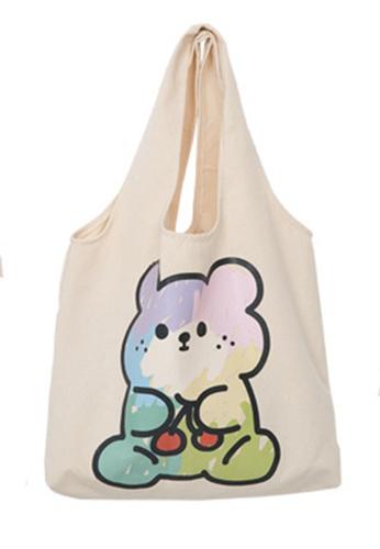 Sunnydaysweety multi All-Match Color Bear Canvas Bag Ca21051308 1D6CFACCB11C09GS_1