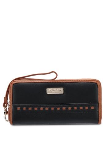 Unisa black Colour Block Ladies Zip-Up Wallet UN821AC0SINUMY_1