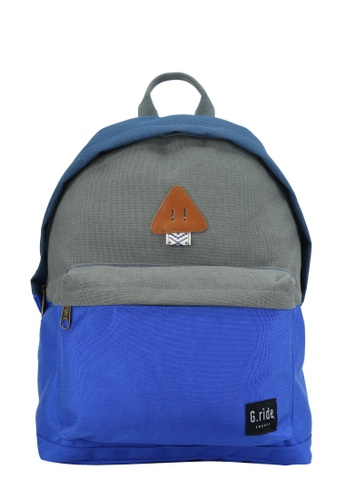 G.ride grey and blue and navy Auguste Backpack GR478AC0GKSGSG_1