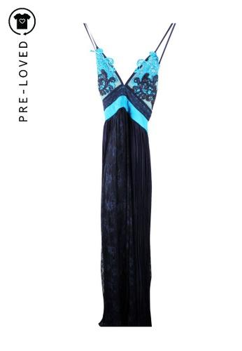 THREE FLOOR blue Pre-Loved three floor Backless Lace Dress 8A09FAA7145D5DGS_1