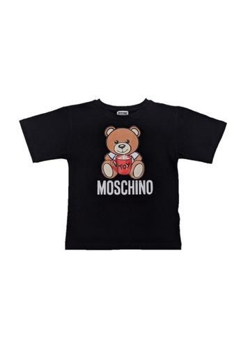MOSCHINO BABY KID TEEN black MOSCHINO KIDS T-SHIRT 5F92DKAD220FC8GS_1