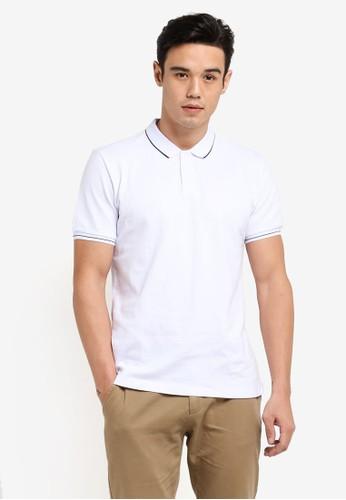 harga Pique Tipping Polo Shirt Zalora.co.id
