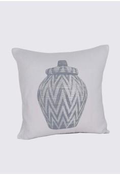 Ethnic Jar Print A Throw Pillow Case