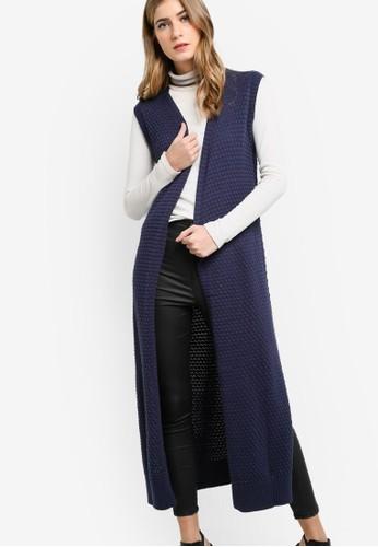 Tesprit旗艦店he Lilybouble 長版裹飾針織外套, 服飾, 外套