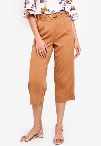 ESPRIT brown Belted Pants 2B74DAAAFE8372GS_1