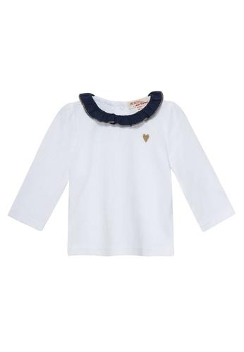 Du Pareil Au Même (DPAM) white Heart Embroidery Blouse 261EEKABC1E102GS_1
