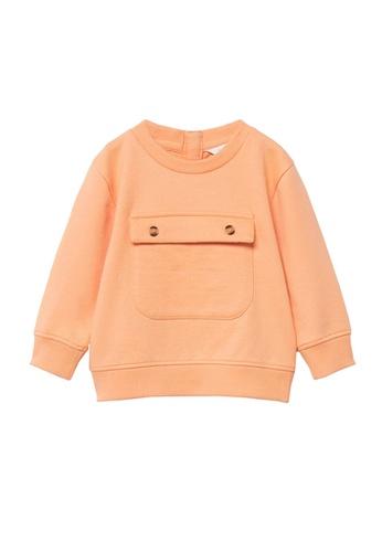 MANGO BABY orange Organic Cotton Sweatshirt 3E398KA879AB23GS_1