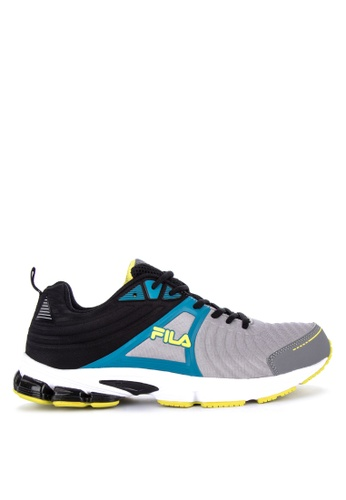 Fila grey and multi F Force Running Shoes AC932SH08A467DGS_1
