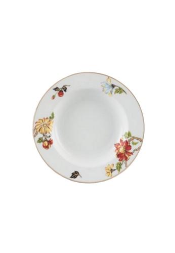 Minh Long I white Dahlia: Porcelain Deep Soup Plate (23cm) 277C9HL759CA2DGS_1