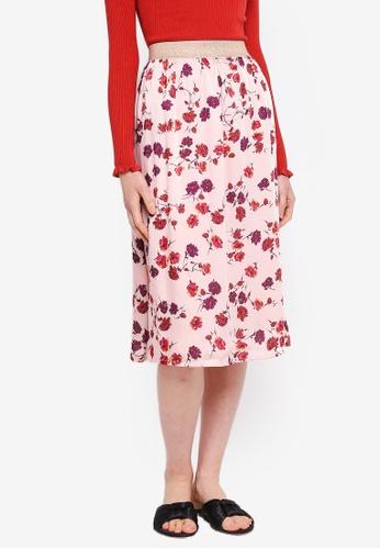 ESPRIT pink Woven Midi Skirt B8853AA68B62ECGS_1