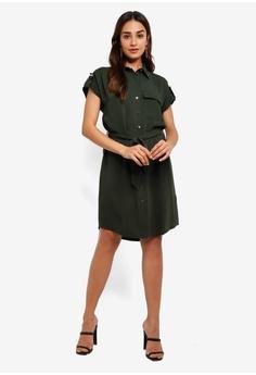 244e5c5257e92e Dorothy Perkins Khaki Short Sleeve Shirt Dress RM 209.00. Available in  several sizes