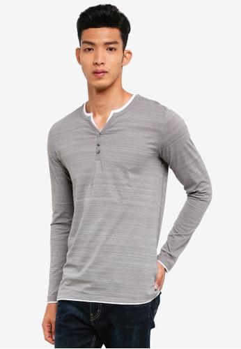 ESPRIT 灰色 Long Sleeve T-Shirt 9E389AA231DF2EGS_1