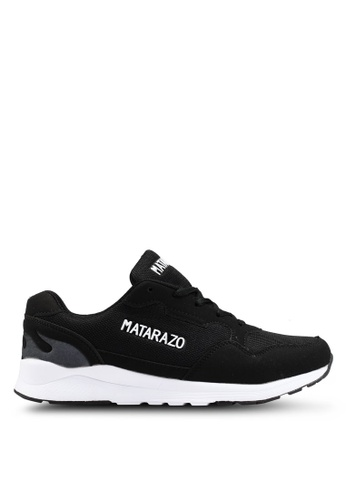 Rocklander black Matarazo Mesh Sneakers 0C0AESHE6C7842GS_1