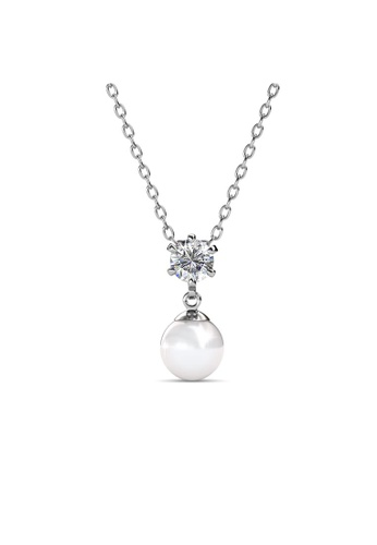 Her Jewellery silver Swarovski® Crystals - Pauline Pendant (18K White Gold Plated) Her Jewellery HE581AC0RB17MY_1