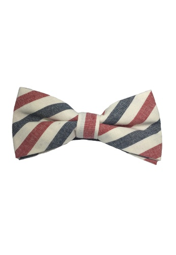 Splice Cufflinks white Passe Series Red, Blue and White Stripes Cotton Pre-Tied Bow Tie SP744AC50TYZSG_1