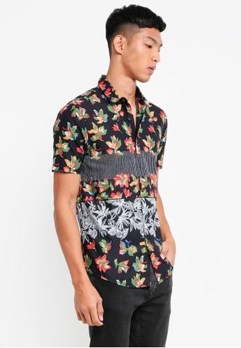 Topman multi Multi Leaf Printed Short Sleeve Shirt 86715AA7220797GS_1