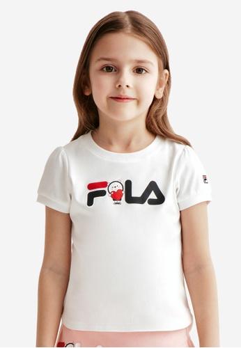 FILA white FILA KIDS FILA x WONNIE FRIENDS Logo Cotton T-shirt 4-9yrs 9AC54KA5A6B085GS_1