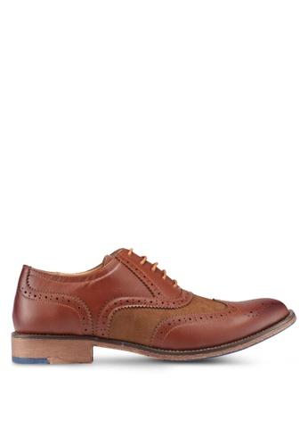 Bata brown Perforated Dress Shoes 6EFC4SH8348E68GS_1