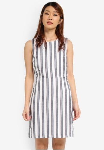 a777d5fbb04 Buy WAREHOUSE Stripe Open Back Dress Online on ZALORA Singapore