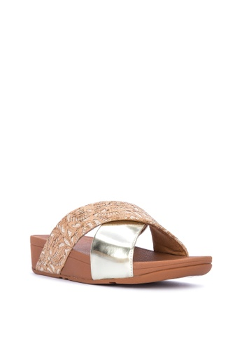 df2ec6122ae1b Shop Fitflop Lulu Cross Slide Sandals Online on ZALORA Philippines