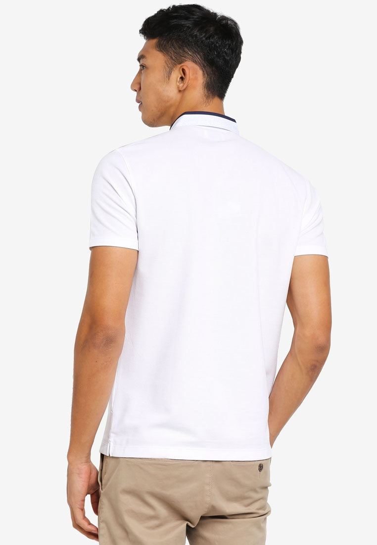G2000 Collar Shirt White 2 1 Shirt in Printed Polo wtx07Iq8