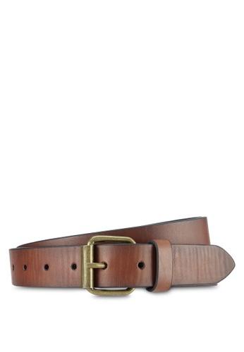 Burton Menswear London brown Slim Tan Casual Belt BU964AC0S9QGMY_1