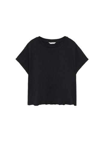 MANGO KIDS black Organic Cotton Essential T-Shirt 4CB24KAF9BD035GS_1
