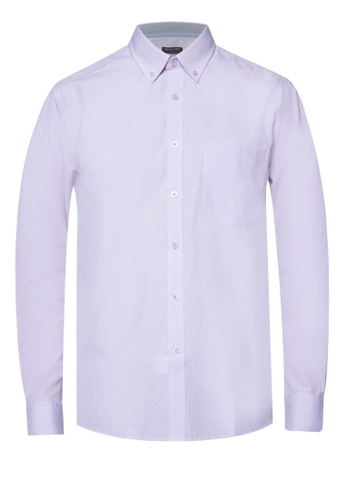 Pacolino purple Casual Smart Long Sleeve Shirt PA995AA50CLLMY_1