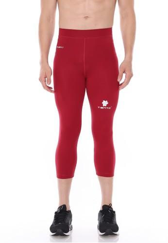 Jual Tiento Tiento Man Compression 3 4 Pants Maroon Celana Legging Leging Lejing Sebetis Pria Olahraga Lari Sepakbola Renang Fitness Futsal Original Zalora Indonesia