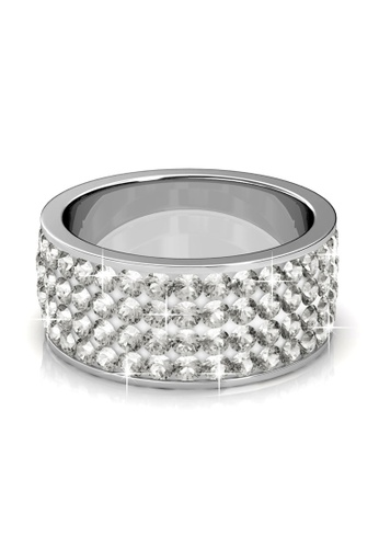 Her Jewellery silver Roller Ring (White) - Made with premium grade crystals from Austria HE210AC86XTTSG_1
