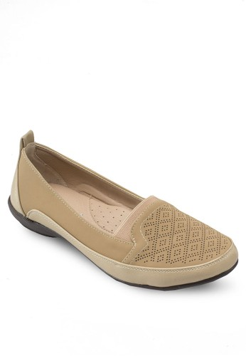 Covet 暗紋平esprit暢貨中心底鞋, 女鞋, 鞋