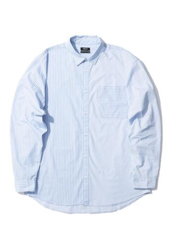 Fivecm blue Stripe pocket shirt C92EAAAF9001E7GS_1