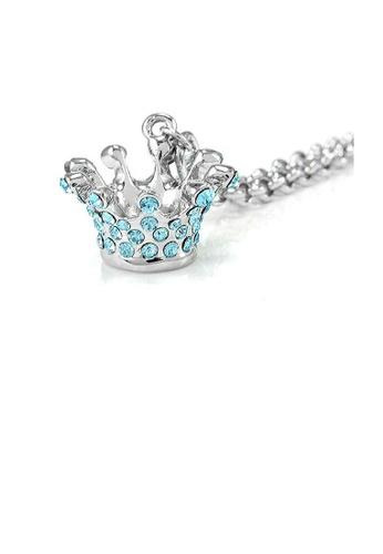 Glamorousky blue Crown Bracelet with Blue Austrian Element Crystals 7D1B5AC3C340DAGS_1