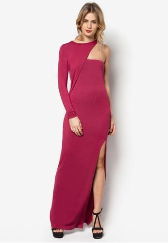 單挖zalora taiwan 時尚購物網鞋子肩裹飾連身裙, 服飾, 洋裝