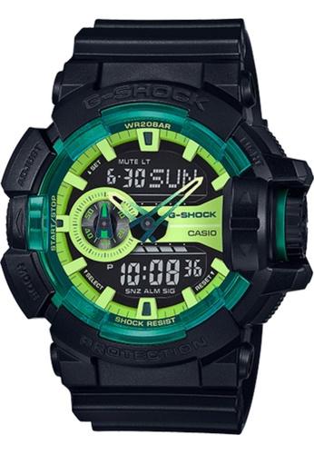CASIO black Casio G-Shock Green and Black Resin Watch 799A0AC23C0DD9GS_1