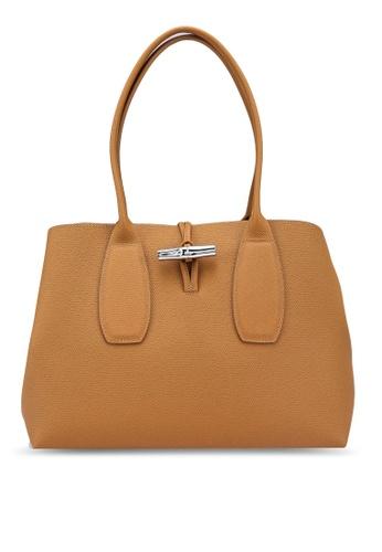 Longchamp beige Roseau Shoulder Bag (zt) F1567ACC1AF729GS_1