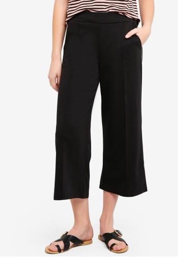 ICHI black Kate Wide Pants 1A1F5AA535486AGS_1