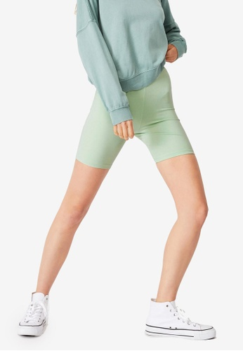 Cotton On green The Pip Jersey Bike Shorts 52CF8AACD427F5GS_1