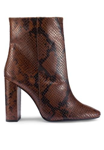 Buy MANGO Snake Leather Ankle Boots Online   ZALORA Malaysia 5200abff61c9