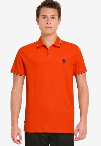 Timberland orange Millers River Tipped Pique Polo Shirt 38FBBAA21A626BGS_1